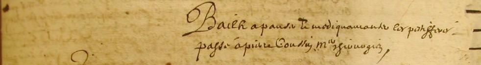 ADH, 2E 11/84, f°253, bail à panser et médicamenter les pestiférés (Béziers, 1652)