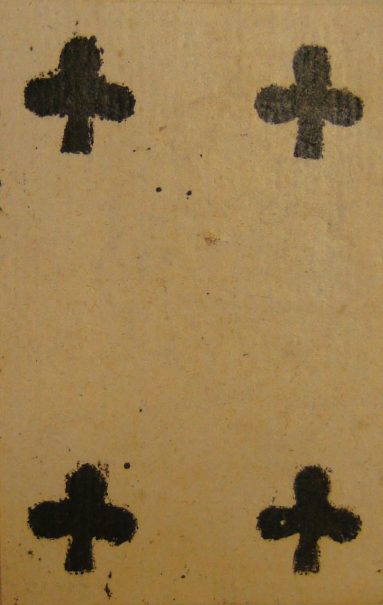carte ancienne : quatre de trèfle